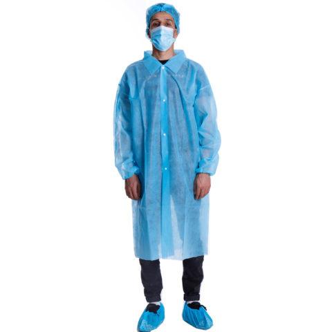 non woven lab coat