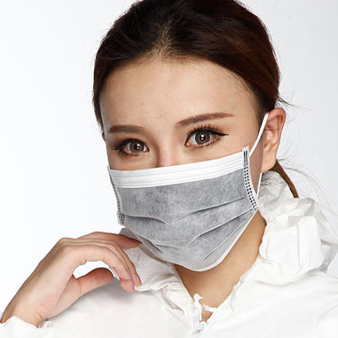 disposable 4Ply non woven active carbon surgical mask